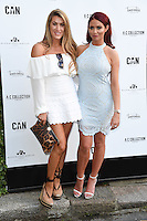 Lillie Lexie Gregg and Amy Childs<br /> arrives for the Amy Childs Summer Collection show at Beach Blanket Babylon, Notting Hill, London.<br /> <br /> <br /> ©Ash Knotek  D3129  06/06/2016