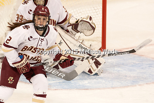 Grace Bizal (BC - 2) - The Boston College Eagles defeated the visiting UConn Huskies 4-0 on Friday, October 30, 2015, at Kelley Rink in Conte Forum in Chestnut Hill, Massachusetts.