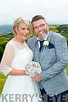 Kerrie Deegan, daughter of Anna and the late Mike, Ballylongford and Andy Cleary, son of Mary&Phillip, Dublin, who married last Friday, July 5, in St Michaels Arc angel church, Ballylongford with Fr Dave Kenneally officiating. Bestman was Graham Dempsey with Groomsman Brian Guinane. 1st bridesmaid was Orla Deegan with Sizan Byrne. Flowergirl was Teagan Dempsey. Pageboys were Matthew Byrne and Danny Carmody. The reception was in the Ballyroe Heights hotel, Tralee and the couple will reside in Co Wexford.