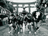 Fest des Hachiman-Schrein in Tokyo, Japan