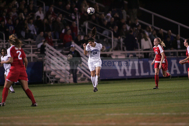 The UK Women's soccer team plays Ole Miss at the Soccer and Softball complex on Thursday night, Oct. 21, 2009. Photo by Adam Wolffbrandt   Staff