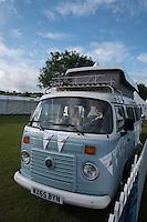 Henley on Thames. United Kingdom. VW, Camer van of the Sarasota Travel Association     Thursday,  30/06/2016,      2016 Henley Royal Regatta, Henley Reach.   [Mandatory Credit Peter Spurrier/ Intersport Images]