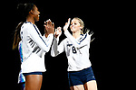 KANSAS CITY, KS - DECEMBER 14: Lainy Pierce #8 of Penn State University is introduced prior to the Division I Women's Volleyball Semifinals held at Sprint Center on December 14, 2017 in Kansas City, Missouri. (Photo by Tim Nwachukwu/NCAA Photos via Getty Images)