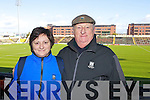 Pictured at the Dr Crokes match in Portlaoise on Saturday, from left: Ann O'Driscoll and John O'Driscoll.