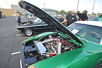NWA Democrat-Gazette/MICHAEL WOODS • @NWAMICHAELW<br /> Cars on display at the 4th Annual Car/Truck Show Friday September 25, 2015 at Arvest Ballpark in Springdale.  The Car show continues Saturday with trophies given out for over 27 different categories including Best of Show, Engine, Paint, Upholstery, Undercarriage & Longest Distance. The 16th annual Bikes, Blues and BBQ Motorcycle Rally runs through Saturday on Dickson Street, Baum Stadium and the Washington County Fairgrounds in Fayetteville and all day Saturday at Arvest Ballpark in Springdale.