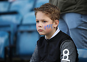 17th March 2019, The Den, London, England; The Emirates FA Cup, quarter final, Millwall versus Brighton and Hove Albion; Young Millwall fan with MFC painted on his cheek
