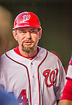 22 May 2015: Washington Nationals third base coach Bob Henley in the dugout during a game against the Philadelphia Phillies at Nationals Park in Washington, DC. The Nationals defeated the Phillies 2-1 in the first game of their 3-game weekend series. Mandatory Credit: Ed Wolfstein Photo *** RAW (NEF) Image File Available ***