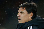 Chris Coleman, manager of Wales during the international friendly match at the Cardiff City Stadium. Photo credit should read: Philip Oldham/Sportimage