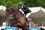 France's jockey Philippe Rozier with the horse Dakar C during 102 International Show Jumping Horse Riding, Gran Prix of Madrid-Volvo Throphy.May, 19, 2012. (ALTERPHOTOS/Acero)
