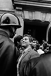 "Student leader Daniel Cohn-Bendit (Danny the Red) in front of Sorbonne University, at the start of the ""May 1968 events"" Paris, France, May 6, 1968"