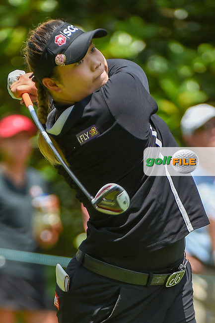Ariya Jutanugarn (THA) watches her tee shot on 3 during round 4 of the U.S. Women's Open Championship, Shoal Creek Country Club, at Birmingham, Alabama, USA. 6/3/2018.<br /> Picture: Golffile | Ken Murray<br /> <br /> All photo usage must carry mandatory copyright credit (© Golffile | Ken Murray)