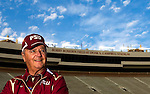Florida State head coach Bobby Bowden on Bobby Bowden Field in Doak S. Campbell Stadium on the Florida State University campus in Tallahassee, Florida April 4, 2009..(Mark Wallheiser/TallahasseeStock.com)