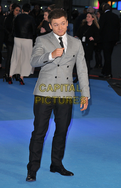Taron Egerton attends the &quot;Eddie The Eagle&quot; European film premiere, Odeon Leicester Square cinema, Leicester Square, London, UK, on Thursday 17 March 2016.<br /> CAP/CAN<br /> &copy;Can Nguyen/Capital Pictures