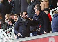 Leeds United's director of football Victor Orta takes his seat<br /> <br /> Photographer Alex Dodd/CameraSport<br /> <br /> The EFL Sky Bet Championship - Middlesbrough v Leeds United - Saturday 9th February 2019 - Riverside Stadium - Middlesbrough<br /> <br /> World Copyright © 2019 CameraSport. All rights reserved. 43 Linden Ave. Countesthorpe. Leicester. England. LE8 5PG - Tel: +44 (0) 116 277 4147 - admin@camerasport.com - www.camerasport.com