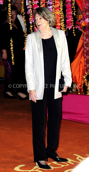 WWW.ACEPIXS.COM<br /> <br /> February 17 2015, London<br /> <br /> Dame Maggie Smith attending The Royal Film Performance and World Premiere of 'The Second Best Exotic Marigold Hotel' at Odeon Leicester Square on February 17, 2015 in London<br /> <br /> By Line: Famous/ACE Pictures<br /> <br /> <br /> ACE Pictures, Inc.<br /> tel: 646 769 0430<br /> Email: info@acepixs.com<br /> www.acepixs.com
