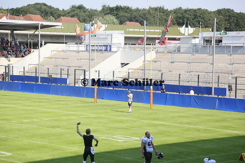 Innenraum des Frankfurter Volksbank Stadion für Football vorbereitet - Frankfurt Galaxy vs. Kirchdorf Wildcats, Frankfurter Volksbank Stadion