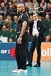 Halle/Westfalen, Germany, March 01: Umpire looks on during the Volleyball DVV-Pokalfinale (Herren) between SVG Lueneburg and VfB Friedrichshafen on March 1, 2015 at the Gerry Weber Stadion in Halle/Westfalen, Germany. Final score 0-3 (13-25, 13-25, 18-25). (Photo by Dirk Markgraf / www.265-images.com) *** Local caption ***