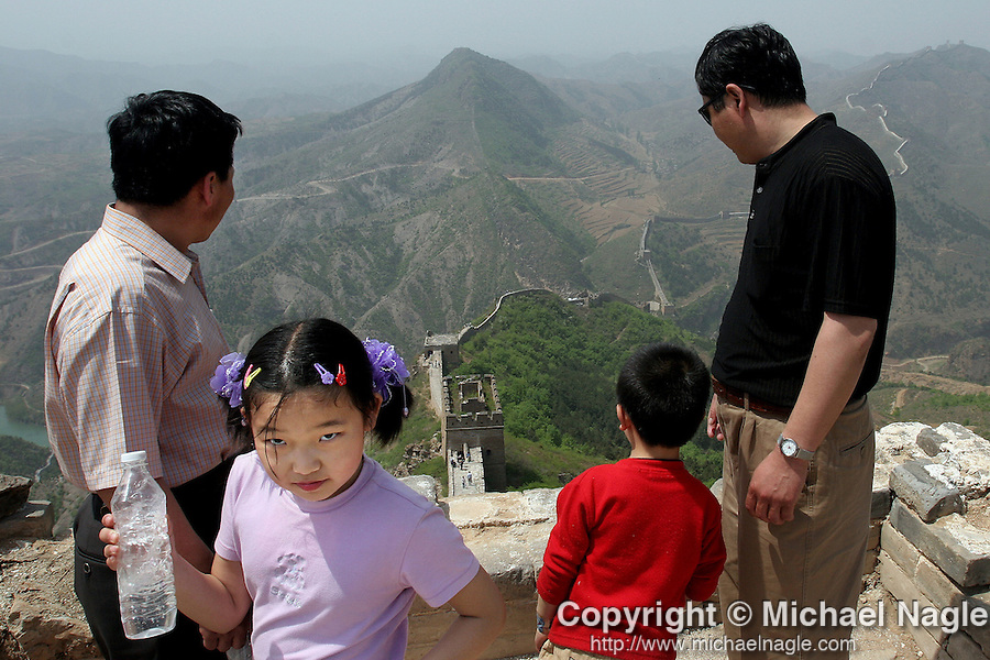 SIMATAI, CHINA --  MAY 02, 2005:  With a week long May public holiday, Chinese tourists visit the Simatai section of The Great Wall on May 02, 2005 2 hours outside of Beijing, China.  (PHOTOGRAPH BY MICHAEL NAGLE)