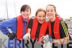 Orla Goodwin, Alyssa Heasman and Camilla O'Connor (Maharees) at the Dingle Regatta over the weekend.