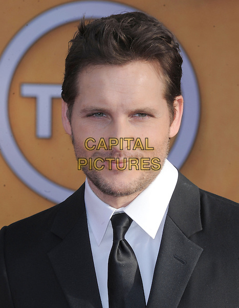 Peter Facinelli.Arrivals at the 19th Annual Screen Actors Guild Awards at the Shrine Auditorium in Los Angeles, California, USA..27th January 2013.SAG SAGs headshot portrait tie shirt white suit black  stubble facial hair .CAP/DVS.©DVS/Capital Pictures.