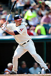 6 September 2009: Cleveland Indians' catcher Chris Gimenez in action against the Minnesota Twins at Progressive Field in Cleveland, Ohio. The Indians defeated the Twins 3-1 to take the rubber match of their three-game weekend series. Mandatory Credit: Ed Wolfstein Photo