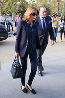 Fernando Fernadez Tapias y Nuria March visits San Isidro funeral home following the death of Miguel Boyer in Madrid, Spain. September 29, 2014. (ALTERPHOTOS/Victor Blanco) /nortephoto.com