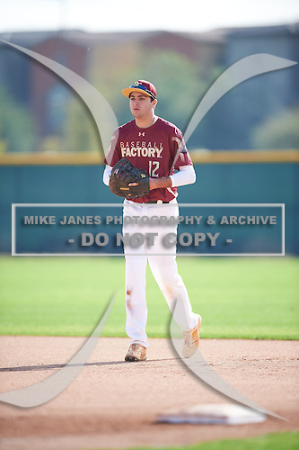 Peter Cowley (12) of JUPITER High School in Jupiter, Florida during the Under Armour All-American Pre-Season Tournament presented by Baseball Factory on January 14, 2017 at Sloan Park in Mesa, Arizona.  (Mike Janes/Mike Janes Photography)