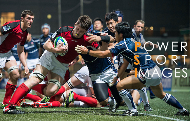 Canada vs Japan during the Day 3 of the IRB Junior World Rugby Trophy 2014 at the Hong Kong Football Club on April 15, 2014 in Hong Kong, China. Photo by Aitor Alcalde / Power Sport Images
