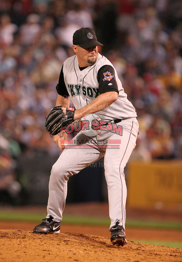 Colorado Springs Sky Sox pitcher Nate Field during the Triple-A All-Star Game at Fifth Third Field on July 12, 2006 in Toledo, Ohio.  (Mike Janes/Four Seam Images)