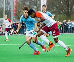 ALMERE - Hockey - Hoofdklasse competitie heren. ALMERE-HGC (0-1) .  Terrance Pieters (Almere) . links Tristan Algera (HGC)  COPYRIGHT KOEN SUYK