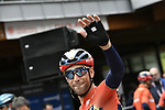 Vincenzo Nibali (ITA) Bahrain-Merida at sign on before Stage 17 of the 2019 Giro d'Italia, running 181km from Commezzadura (Val di Sole) to Anterselva / Antholz, Italy. 29th May 2019<br /> Picture: Fabio Ferrari/LaPresse | Cyclefile<br /> <br /> All photos usage must carry mandatory copyright credit (© Cyclefile | Fabio Ferrari/LaPresse)
