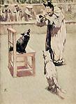 """Anton Chekhov """"Kashtanka"""". Book illustration Clown-Cat, 1954"""