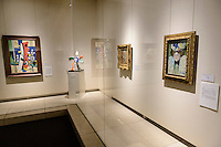 Two picasso paintings (right) in the Kasama Nichido Museum of Art, Kasama city, Ibaraki, Japan, May 10, 2013.
