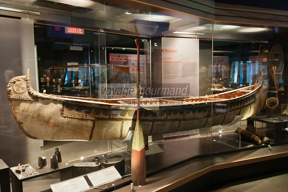 Amérique/Amérique du Nord/Canada/Québec/ Env de Québec/ Wendake:  Hôtel-Musée des Premières Nations - le Musée avec son exposition sur la vie des Hurons-Wendat
