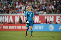 Jacksonville, FL - Thursday April 5, 2018: Bianca Henninger during an International friendly match versus the women's National teams of the United States (USA) and Mexico (MEX) at EverBank Field.