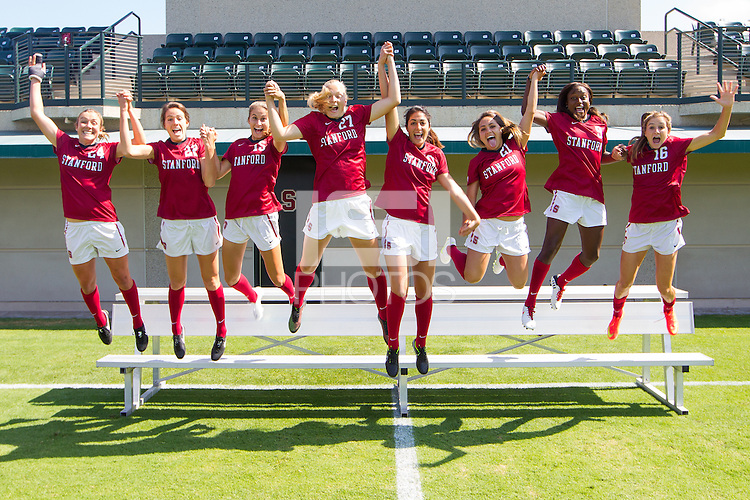 STANFORD, CA - SEPTEMBER 5, 2014--The Stanford Women's Soccer team.