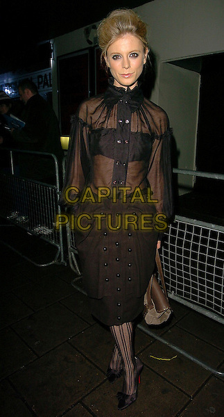 EMILLIA FOX.The British Independent Film Awards at Hammersmith Palais, London, UK..November 30th, 2005.Ref: CAN.full length Amelia Emilia black sheer dress .www.capitalpictures.com.sales@capitalpictures.com.©Capital Pictures