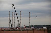 FOTO EMBARGADA PARA VEICULOS INTERNACIONAIS. GUARULHOS, SP, 20/10/2012, OBRAS AEROPORTO CUMBICA. Já começaram as obras de ampliação dos  estacionamentos do Aeroporto de Cumbica em Guarulhos. Na foto o local onde será erguido o edificio garagem que aumentará a capacidade do estacionamento dos veiculos. Luiz Guarnieri/ Brazil Photo Press