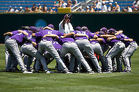 TCU prepares for Game 13 of the NCAA Division One Men's College World Series on June 26th, 2010 at Johnny Rosenblatt Stadium in Omaha, Nebraska.  (Photo by Andrew Woolley / Four Seam Images)
