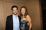 One Life To Live Jason Tam poses with As The World Turns Anne Sayre - Marcia Tovsky throws her annual party on May 9, 2013 with actors from One Life To Live and As The World for a get together at Noir in New York City, New York. (Photo by Sue Coflin/Max Photos)
