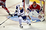 10 April 2010: Toronto Maple Leafs' right wing forward Fredrik Sjostrom in first period action against the Montreal Canadiens at the Bell Centre in Montreal, Quebec, Canada. The Maple Leafs defeated the Canadiens 4-3 in sudden death overtime. Mandatory Credit: Ed Wolfstein Photo