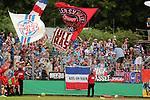 11.08.2019, Salmtalstadion, Salmrohr, GER, DFB-Pokal, 1. Runde FSV Salmrohr vs Holsteinm Kiel<br /> <br /> DFB REGULATIONS PROHIBIT ANY USE OF PHOTOGRAPHS AS IMAGE SEQUENCES AND/OR QUASI-VIDEO.<br /> <br /> im Bild / picture shows<br /> <br /> Kieler Fans/Fanblock<br /> <br /> Foto © nordphoto / Schwarz