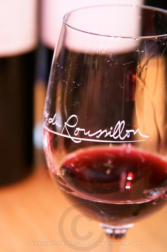Wine glasses. Roussillon, France
