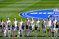 Harrison, NJ - Sunday March 04, 2018: United States, SheBelieves escort kids during a 2018 SheBelieves Cup match match between the women's national teams of the United States (USA) and France (FRA) at Red Bull Arena.