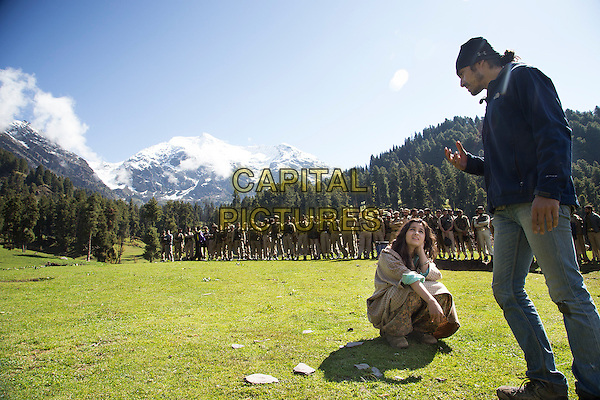 Alia Bhatt &amp; Imtiaz Ali (director)<br /> on the set of Highway (2014) <br /> *Filmstill - Editorial Use Only*<br /> CAP/NFS<br /> Image supplied by Capital Pictures