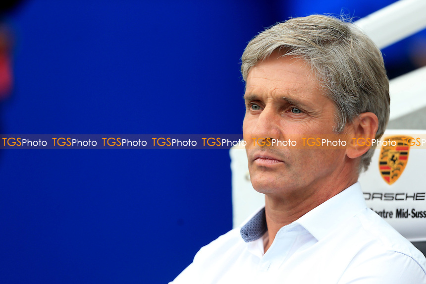 Blackpool Manager Jose Riga before the game - Brighton & Hove Albion vs Blackpool - Sky Bet Championship Football at the American Express Community Stadium, Falmer, Brighton - 20/09/14 - MANDATORY CREDIT: Simon Roe/TGSPHOTO - Self billing applies where appropriate - contact@tgsphoto.co.uk - NO UNPAID USE
