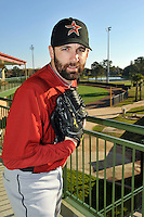 Feb 25, 2010; Kissimmee, FL, USA; The Houston Astros pitcher Tim Byrdak (19) during photoday at Osceola County Stadium. Mandatory Credit: Tomasso De Rosa/ Four Seam Images
