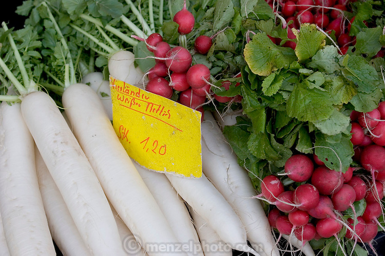 Vegetables at the Saturday outdoor-market in Ahrensburg, Germany. (Supporting image from the project Hungry Planet: What the World Eats.)