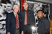 Counties Manukau Under 20 Player of the Year Seremaia Tagicakibau with Vic Hinton & Andrew Hewetson. CMRFU Senior prize giving held at Growers Stadium on Wednesday 22nd of October 2008.
