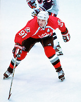 Joe Sakic Team Canada 1998 Olympics. Photo copyright F. Scott Grant